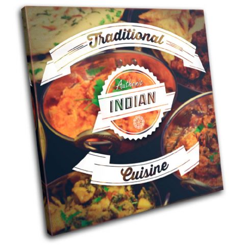 Indian Typography Food Kitchen - 13-6050(00B)-SG11-LO